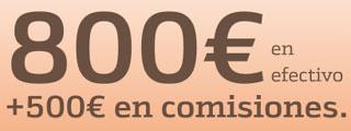 Llévate 800 € en efectivo y hasta 500 € en comisiones trayendo tu cartera a Bankinter
