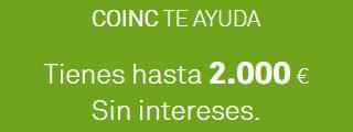Ahora Coinc también te presta dinero con los préstamos Coinc