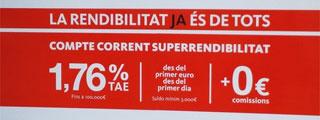 Banco Santander y su cuenta remunerada al 1,75% solo en Cataluña