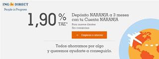 Depósito Naranja a 3 meses para nuevos clientes ING DIRECT