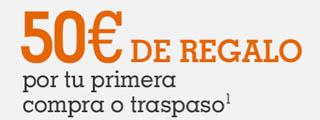 Broker Naranja regala 50 euros y 3 meses sin comisiones