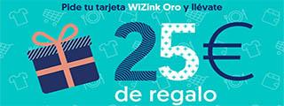 25 € de regalo con la tarjeta WiZink Oro