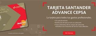 Nueva tarjeta Santander Advance Cepsa