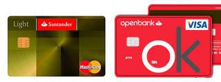 Tarjeta de Visa Open vs Santander Light