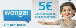 Préstamos a 60 días por 5 euros